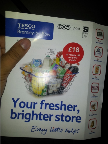 Tesco Bromley-by-Bow new store mailshot
