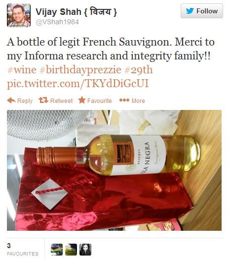 Twitter - VShah1984 A bottle of legit French 2013-10-05 14-39-14