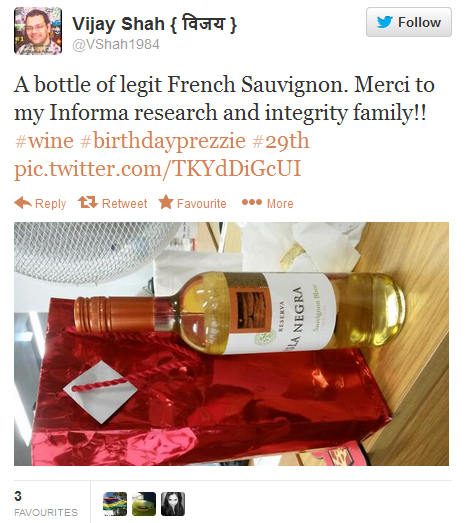 Twitter - VShah1984 A bottle of legit French 2013-10-05 14-39-14