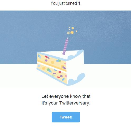 (c) Twitter via Gmail
