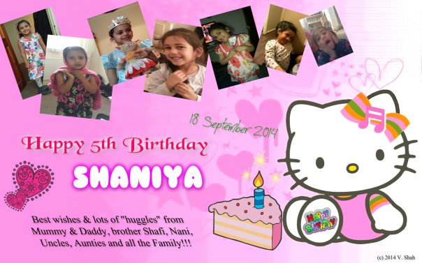 PHOTO MOMENT: My niece Shaniya's fifth birthday